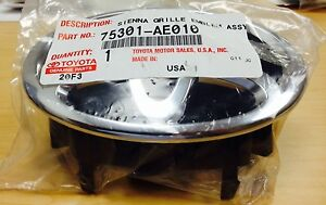 Genuine Toyota Sienna 2006 Front Grille Emblem In Chrome Oem Brand New