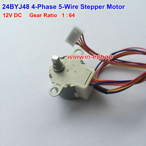 24byj48 Gear Stepper Motor Dc 12v 4 Phase 5 Wire Geared Box Reduction Motor