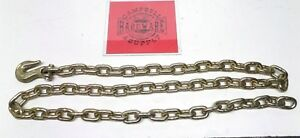 Auto Body Frame Machine Pull Chain 3 8 X 8 Grade 70 With 3 8 Grab Hook