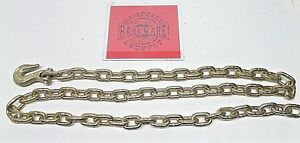 Auto Body Frame Machine Pull Chain 3 8 X 7 Grade 70 With 3 8 Grab Hook