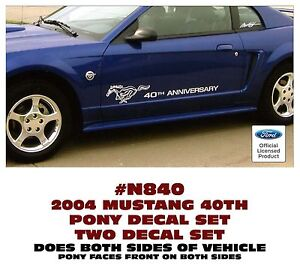 Ge N840 2004 Ford Mustang 40th Anniversary With Pony Side Decal Set