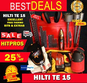 Hilti Te 15 Preowned Free Thermo Bits Lot Of Extras Fast Ship