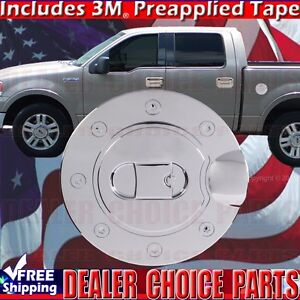 2004 2008 Ford F150 F 150 Triple Chrome Abs Gas Door Cover Overlay Trim Fuel Cap