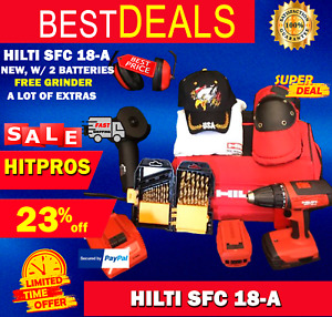 Hilti Sfc 18 a New W 2 Batteries Free Grinder A Lot Of Extras Fast Ship