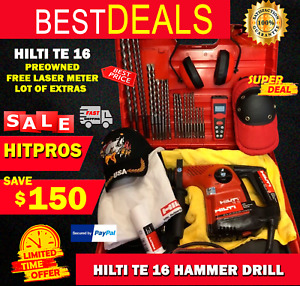 Hilti Te 16 Preowned Free Laser Meter Lot Of Extra Fast Ship