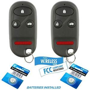 2 Car Key Fob Keyless Remote 4btn For 1998 1999 2000 2001 2002 Honda Accord