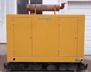125kw Katolight Diesel Low Hours Standby Generator With John Deere Engine