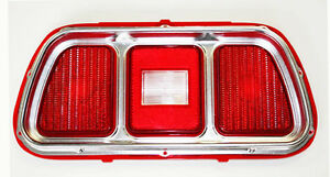 New 1971 1972 1973 Ford Mustang Tail Light Bezel And Lens Price Is Each