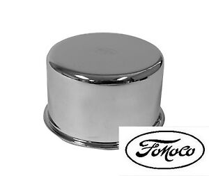 New 1965 1966 Ford Mustang Chrome Oil Cap With Fomoco Logo Falcon Bronco