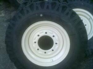 4 Skid Steer Tire Snow Plowing Tires And Wheels Fits Bobcat New Holland Case