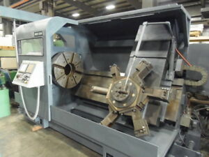 Mori Seiki Sl 8 Cnc Lathe Fanuc 21it 32 4 Jaw Chuck 10 25 Hole Video Avail