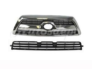 For 2008 2009 4runner Sr5 W O Off Road Front Bumper Lower Grille Grille Chrome