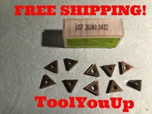 10pcs New Komet W57 26040 0432 Carbide Inserts Cnc Tooling Machine Shop Tools