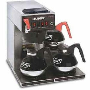 New Bunn 12 Cup Dual voltage Auto Coffee Brewer With 3 Warmers Cwtf dv