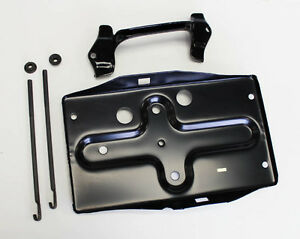 New 1965 1966 Mustang Battery Tray Hold Down Mounting Kit Upgrade Bracket