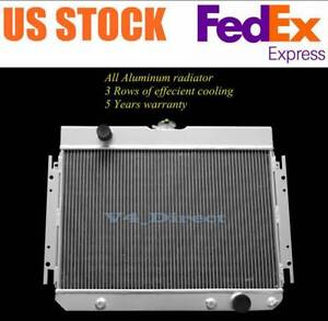 All Aluminum Radiator Fit 1963 64 65 66 68 Chevy Impala Gmc Truck Pickups 3 Rows