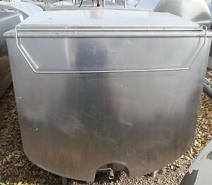 1000 Gallon Sunset 39mc383 Flat Top Bulk Milk Tank
