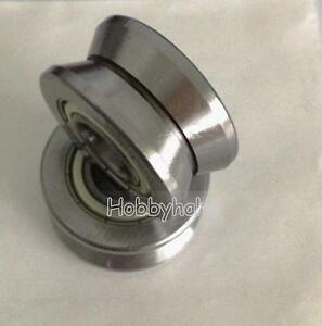 New 1pcs V Groove 15 38 17mm Sealed Ball Track Roller Guide Vgroove Bearing