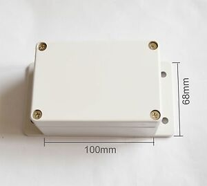 8pcs Electrical Instruments Plastic Box 100 68 50mm With Ears Diy
