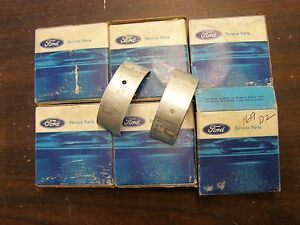 Nos Oem Ford 1960 1965 Falcon Fairlane Mustang Main Bearings 1961 1962 1963 1964