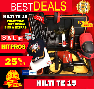 Hilti Te 15 Preowned Free Thermo Bits And A Lot Of More Fast Ship