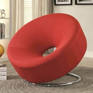 Modern Accent Living Room FUN Donut Shaped Chair Seating Upholstery Fabric Color