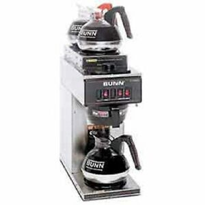 New Bunn Pourover Coffee Brewer With 3 Warmers 1l 2t Vp17 3 S s