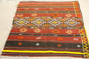 Antique 3 8 X4 7 Tribal Camel Bag Chuval Sumak Embroidered Panels Wool Rug