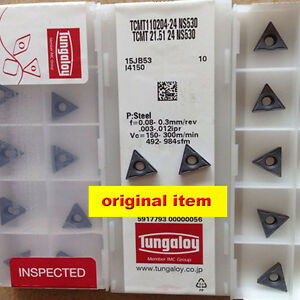 New Tungaloy Tcmt110204 24 Ns530 Tcmt21 51 24 Ns530 Carbide Insert 10pcs In Box