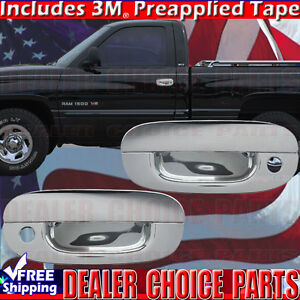 For 1994 2001 Dodge Ram 1500 2dr Std ext Chrome Door Handle Covers Trims W psk