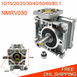 Nmrv030 Worm Gearbox Nema23 Speed Reducer Reduction 10 15 20 25 30 40 50 60 80 1
