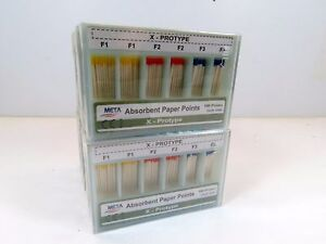 Dental Paper Point X Prototype Points F1 F2 F3 F4 F5 Assorted 1200 Points Meta
