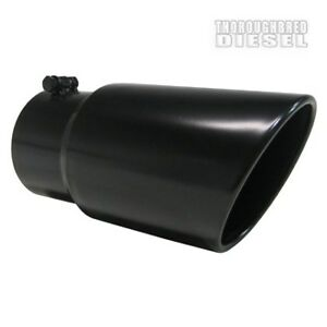 Mbrp T5074blk 12 Black Finish Dual Wall Angled Exhaust Tip