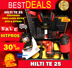 Hilti Te 25 Preowned Free Laser Meter Bits A Lot Of Extra Fast Ship