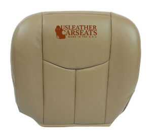 2003 04 2005 Chevy Silverado Driver Bottom Leather Heated power Seat Cover Tan