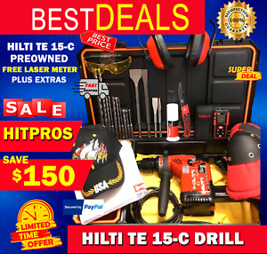 Hilti Te 15 c Drill Preowned Free Laser Meter Plus Extras Fast Ship