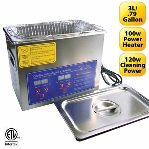 Stainless Steel 3l Heated Ultrasonic Cleaner W Timer Heater can us Approved