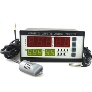 220v Digital Temperature Humidity Controller Computer Incubator Automatic Sensor