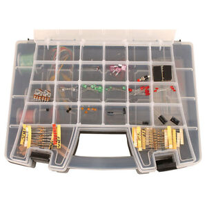 Deluxe Electronics Kit 1 With 219 Pieces Resistors Transistors Switches Wire P