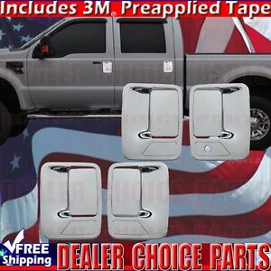 1999 2016 Ford F250 F350 Superduty Crew Chrome Door Handle Covers No Psk