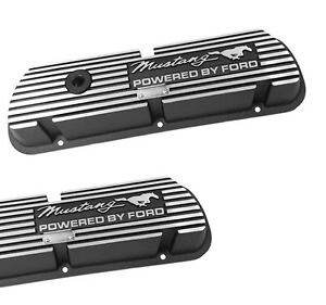 New Mustang Valve Covers Powered By Ford 289 V8 Running Horse Script Pair Set