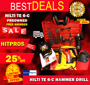 Hilti Te 6 c Hammer Drill Preowned Free Grinder Lot Of Extras Fast Ship