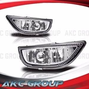 Cobra Tek For 2001 2002 Toyota Corolla Clear Lens Chrome Housing Fog Lights Lamp