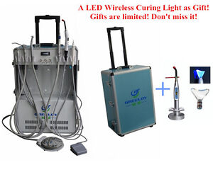 Dental Portable Delivery Unit With Air Compressor 4h Wireless Led Curing Light