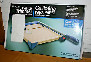 Nos Westcott Paper Trimmer 12 Inches Wood Base