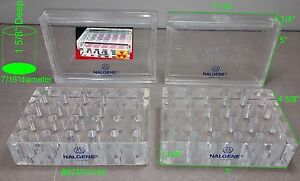 Lot Of 2 Nalgene Beta 24 Sockets Test Tube Rack With Cover 6720 0150