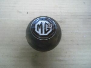 Old Vintage Mg Wood Shift Shifter Knob Emblem Wooden 1968 1964 Y