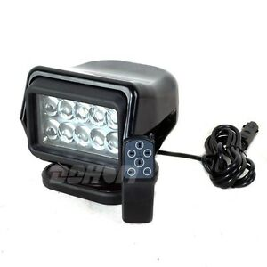 Cree 50w Led Rotating Remote Search Light Marine Spot Beam Boat Suv Offroad Hid