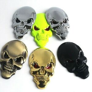 3d Skull Metal Sticker Decal Emblem 2 X 1 1 4 Car Truck Motorcycle Accessory