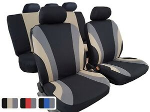 Brand New Car Seat Covers 11pcs Car Interior Accessoris Polyester Rainbow Design